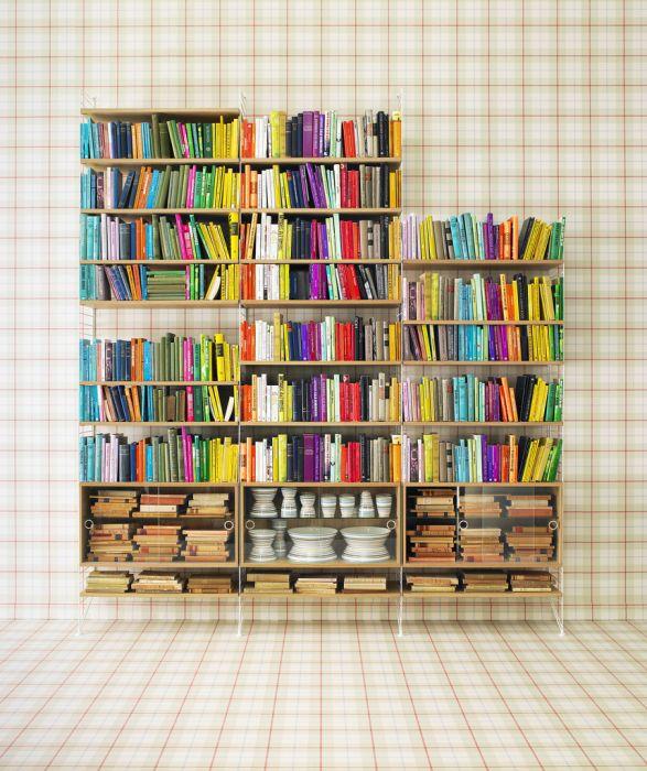 Domowa Biblioteczka Pomysły Elle Decoration Trendy Wiosna Lato