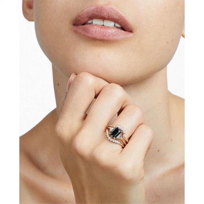Pierścionek Zaręczynowy Z Czarnym Diamentem Nowy Trend Elle