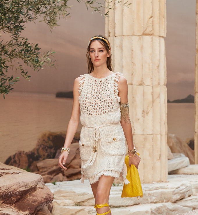 Chanel Resort 2018 - pleciona sukienka - Chanel Cruise 2018
