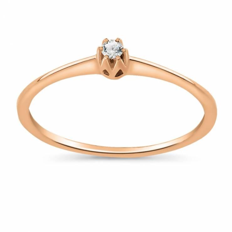 Pierścionek Zaręczynowy Z Różowego Złota W Pierścionki Zaręczynowe