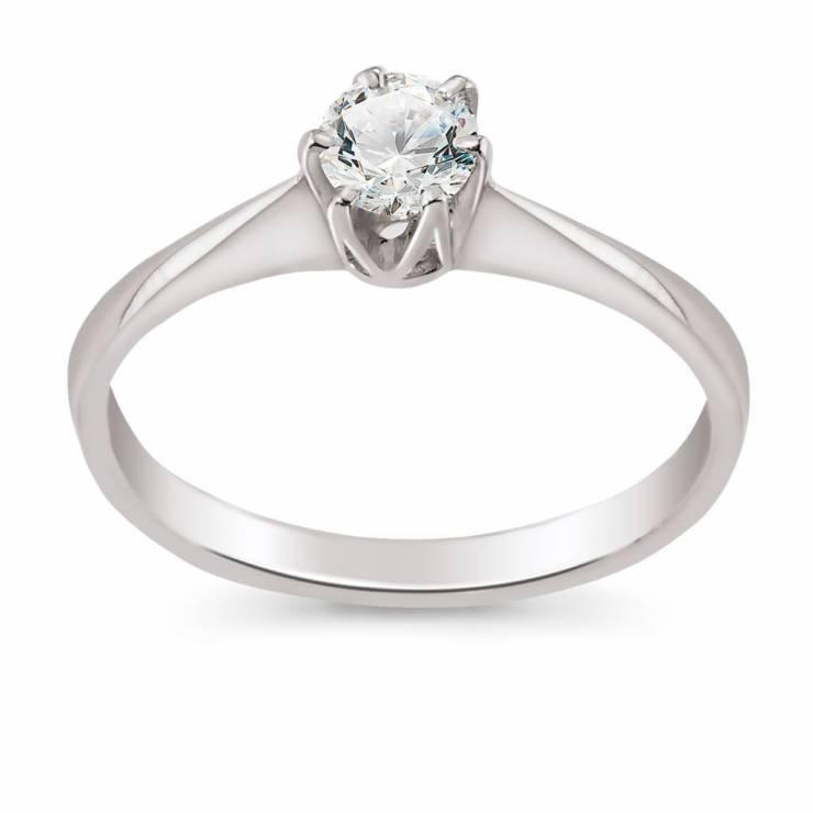 Pierścionek Zaręczynowy Z Białego Złota W Pierścionki Zaręczynowe