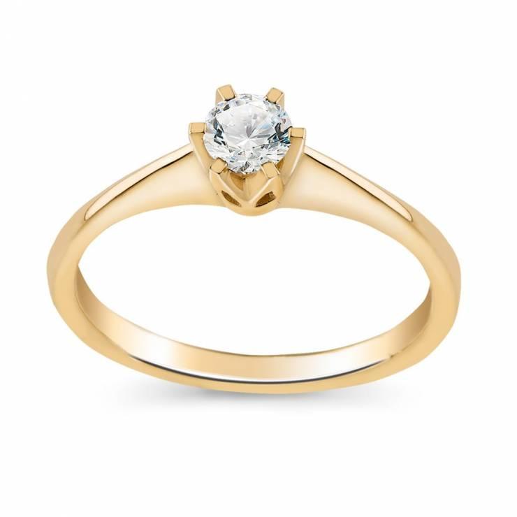 Złoty Pierścionek Zaręczynowy W Pierścionki Zaręczynowe Wkruk