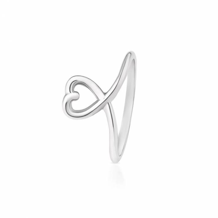 Super Srebrny pierścionek zaręczynowy - Pierścionki zaręczynowe W.KRUK LV56