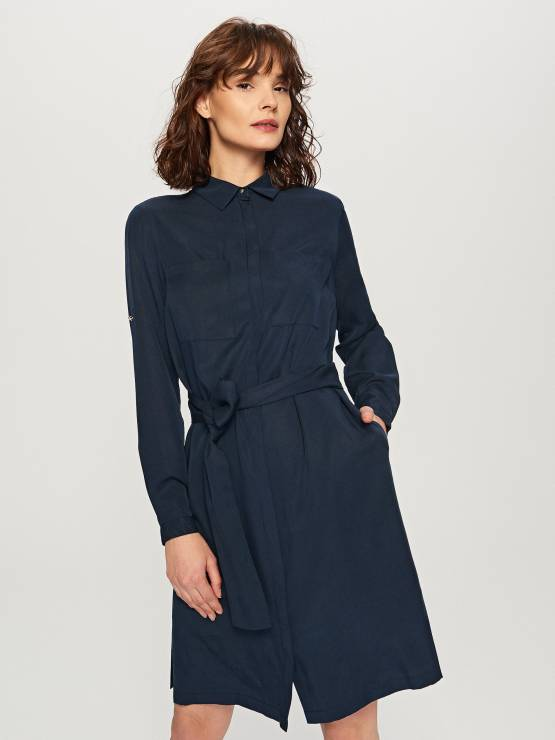 7c543b5be6 Granatowa sukienka - Modne sukienki z Reserved na wiosnę 2018