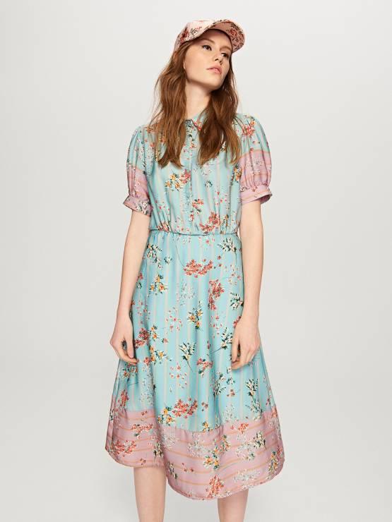 6281d6cf Retro sukienka w kwiaty - Modne sukienki z Reserved na wiosnę 2018