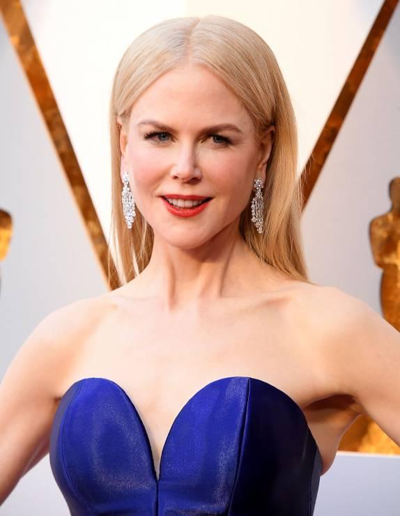 Nicole Kidman Z Przedziałkiem Na środku Oscary 2018