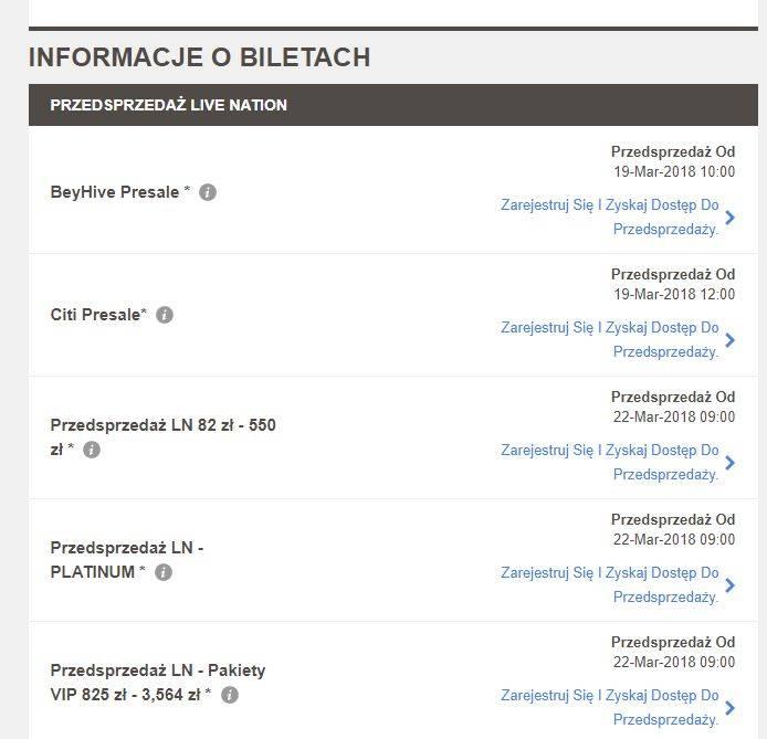 Bilety na koncert Beyonce i Jay Z - Znamy CENY biletów na koncert Beyonce i Jay Z