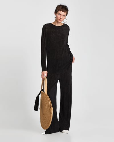 Shopper z rafii Zara - Lookbook Zara wiosna-lato 2018
