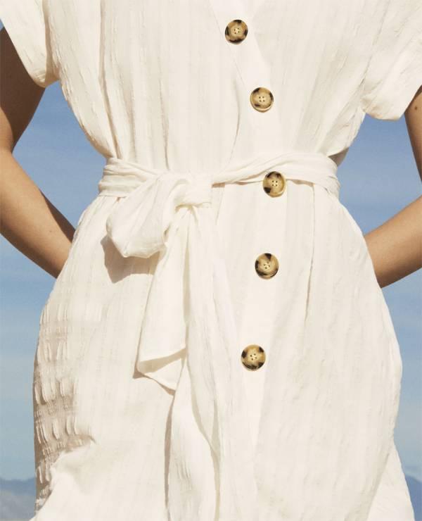 Biała sukienka Zara SS18 - Nowa kolekcja Zara wiosna-lato 2018