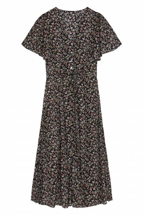 f8b3fdce85 Długa sukienka w kwiaty ditsy OYSHO - Lato w tropikach według OYSHO