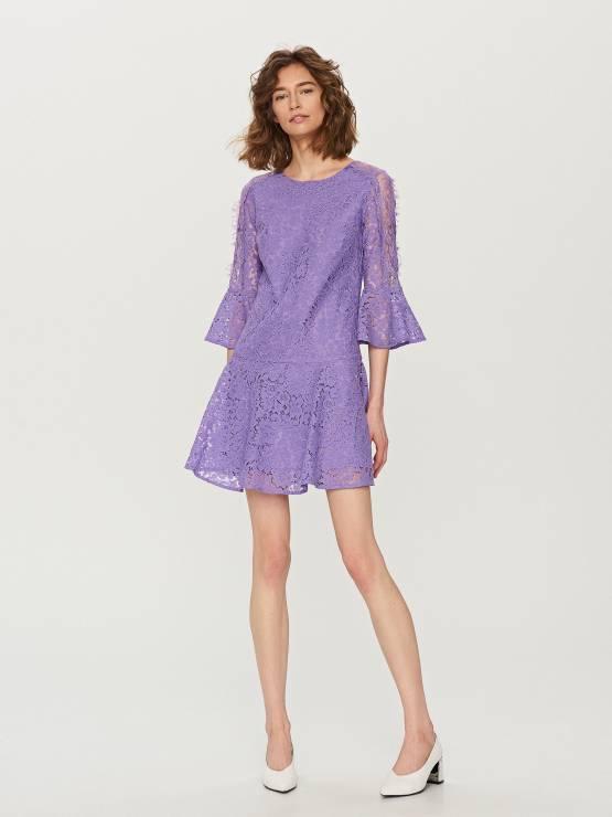 c06e9792a4 Fioletowa sukienka Reserved - 10 najpiękniejszych sukienek z sieciówek na wiosnę  2018