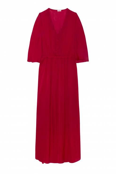 3bc22e3747 Długa gładka sukienka z satyny OYSHO - OYSHO w kolorach lata