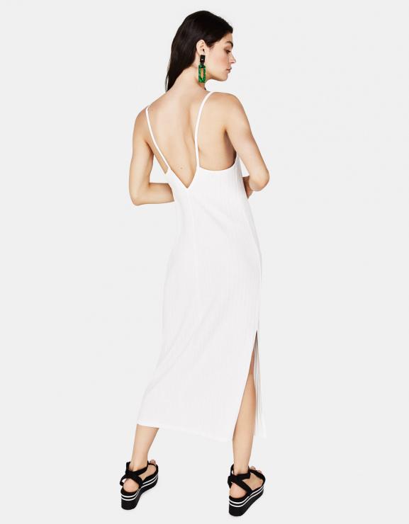ea342b8aea Biała sukienka Bershka - Białe sukienki na lato 2018