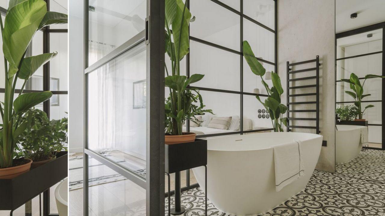 Mieszkanie Z Przeszkloną łazienką Elle Decoration Trendy