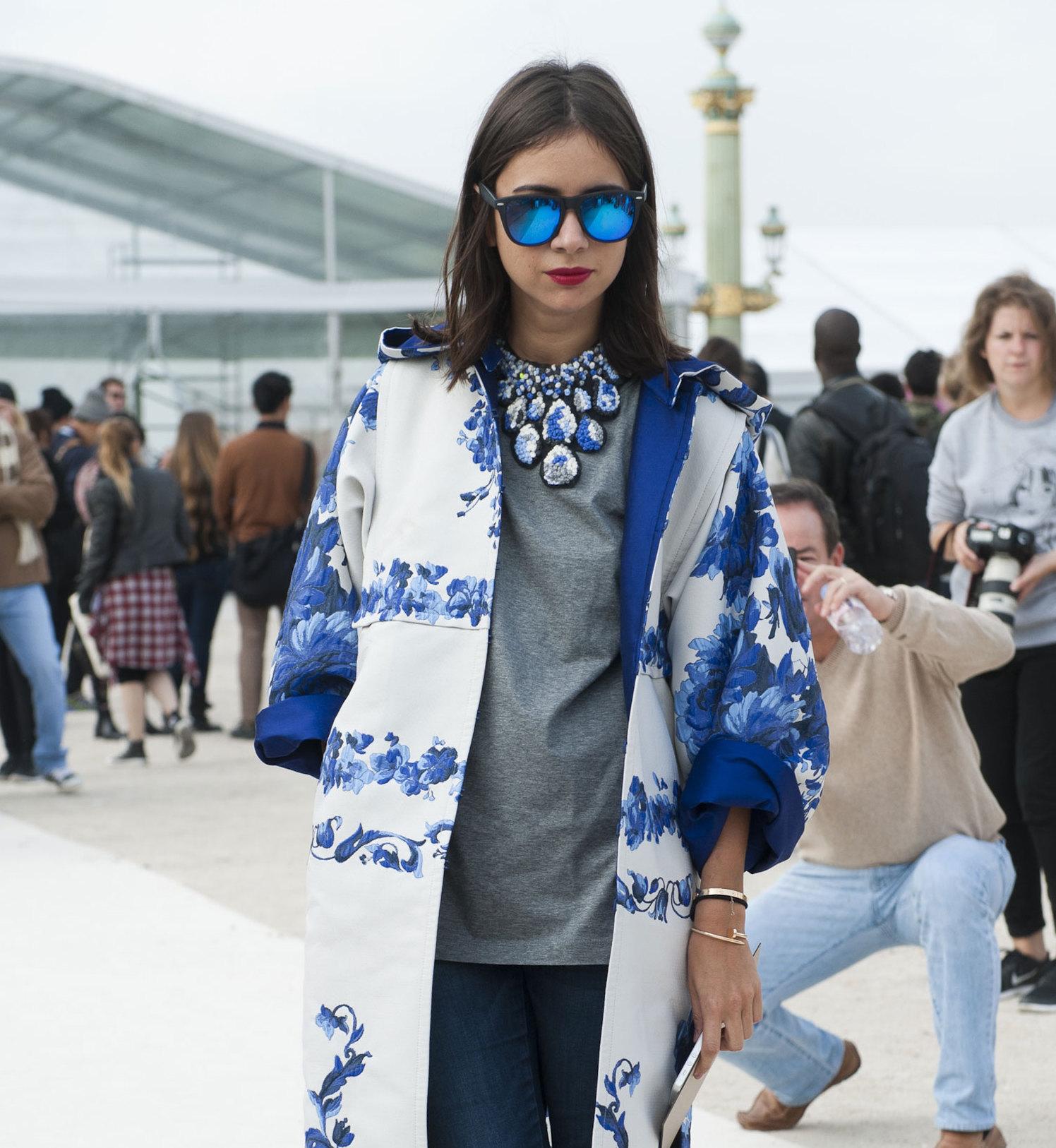 Street Fashion Paris Fashion Week Wiosna Lato 2014 Cz 2