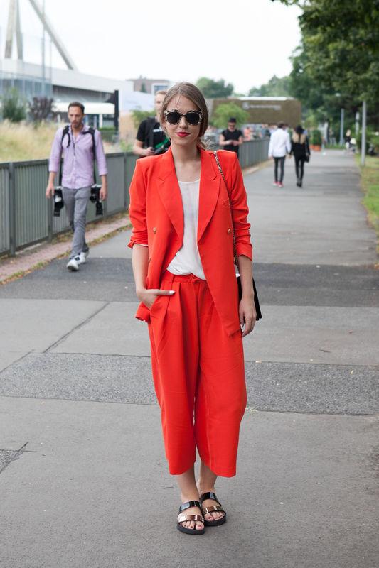 Street Fashion Berlin Fashion Week Wiosna Lato 2015