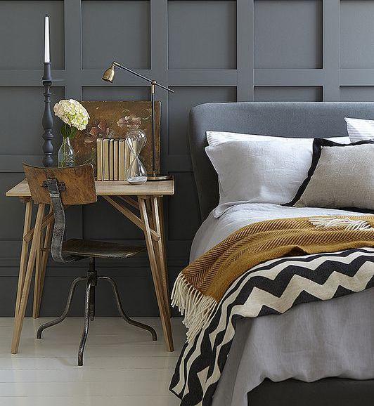 Sypialnia w kolorze szarym - Elle Decoration - trendy ...