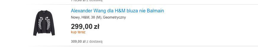 925b829ea2 Złote żniwa na aukcjach Balmain x H M - Elle.pl - trendy wiosna lato ...