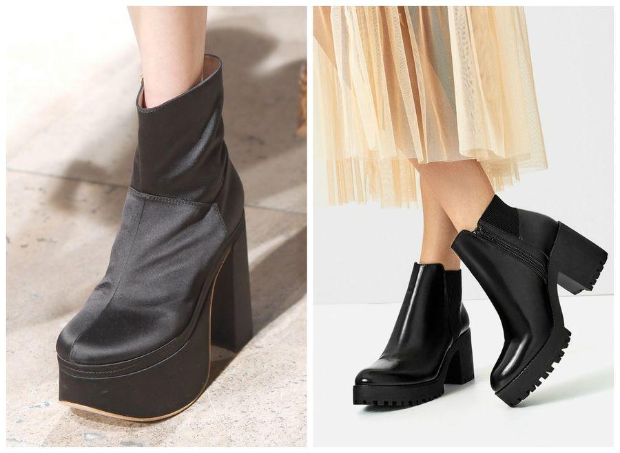 4530d2f9bf74e Modne buty z sieciówek [jesień 2016]: platforma, Vivienne Westwood, Zara,  fot. Imaxtree, mat. prasowe, kolaż ELLE.pl