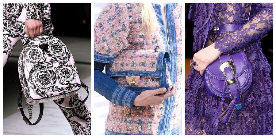 01a2beeb769f3 Modne torebki [jesień-zima 2016/2017], Versace, Chanel, Elie Saab, fot.  Imaxtree, kolaż ELLE.pl