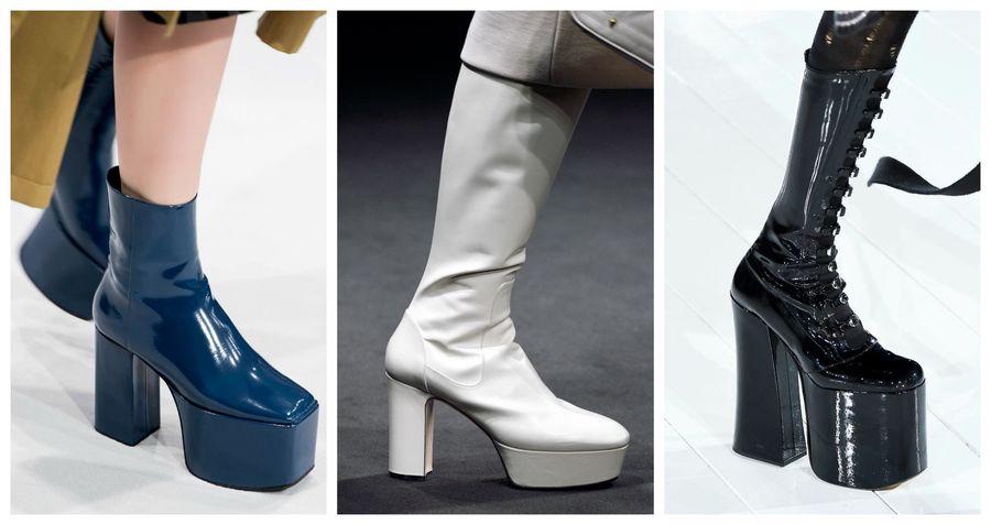 236c67a0 Modne buty [jesień-zima 2016/2017]: platforma, Balenciaga, Gucci, Marc  Jacobs, fot. Imaxtree, kolaż ELLE.pl
