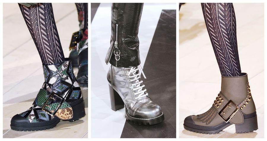 e29f58cf Modne buty [jesień-zima 2016/2017]: ciężar, Burberry, Louis Vuitton, fot.  Imaxtree, kolaż ELLE.pl