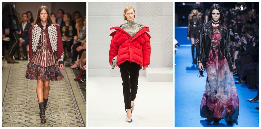 2c3121690c7cc9 Modne kurtki z sieciówek [jesień-zima 2016/2017], Burberry, Balenciaga,  Elie Saab, fot. Imaxtree, kolaż ELLE.pl