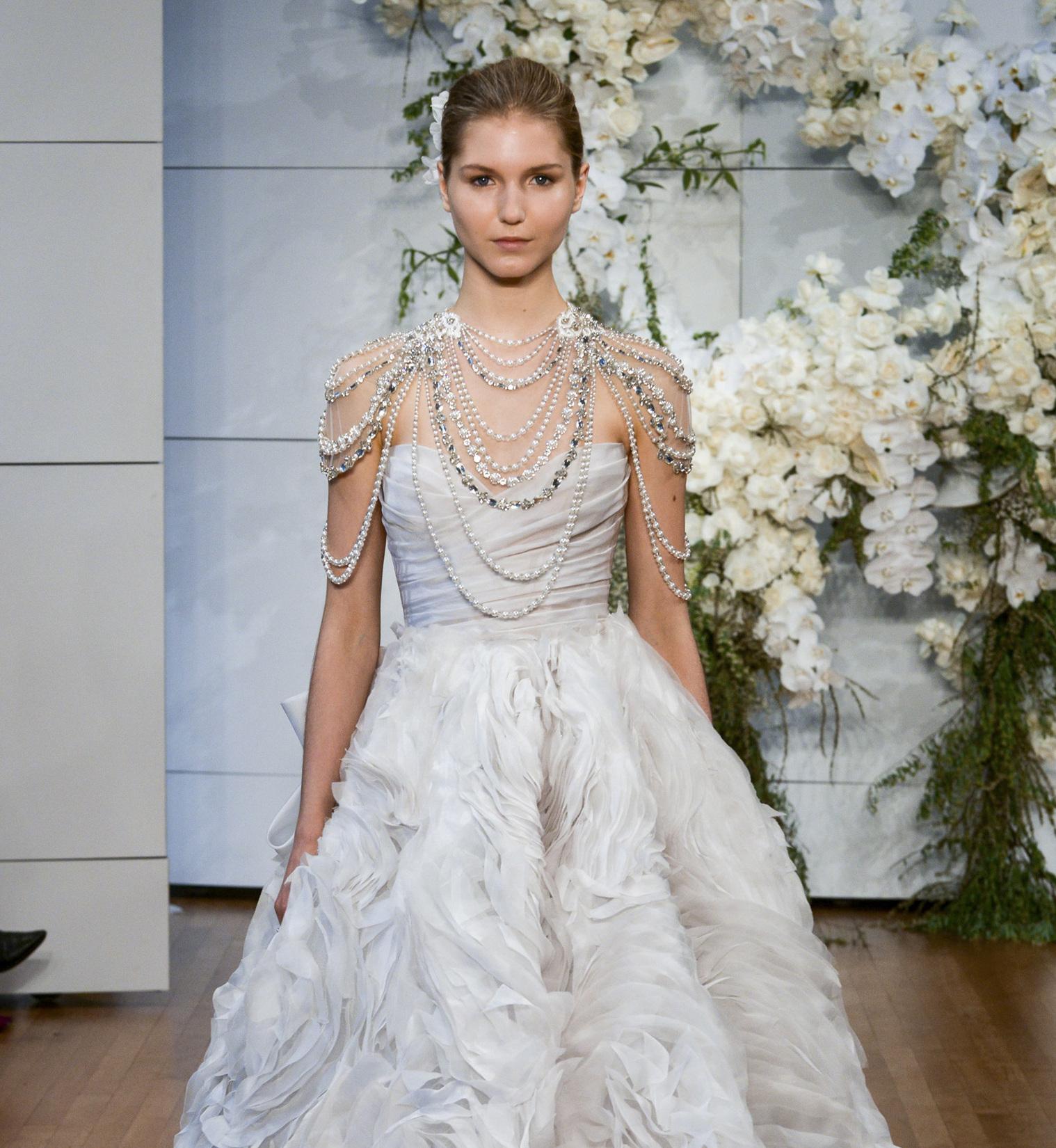 Suknie ślubne Monique Lhuillier Wiosna 2018 Elle Wedding Trendy