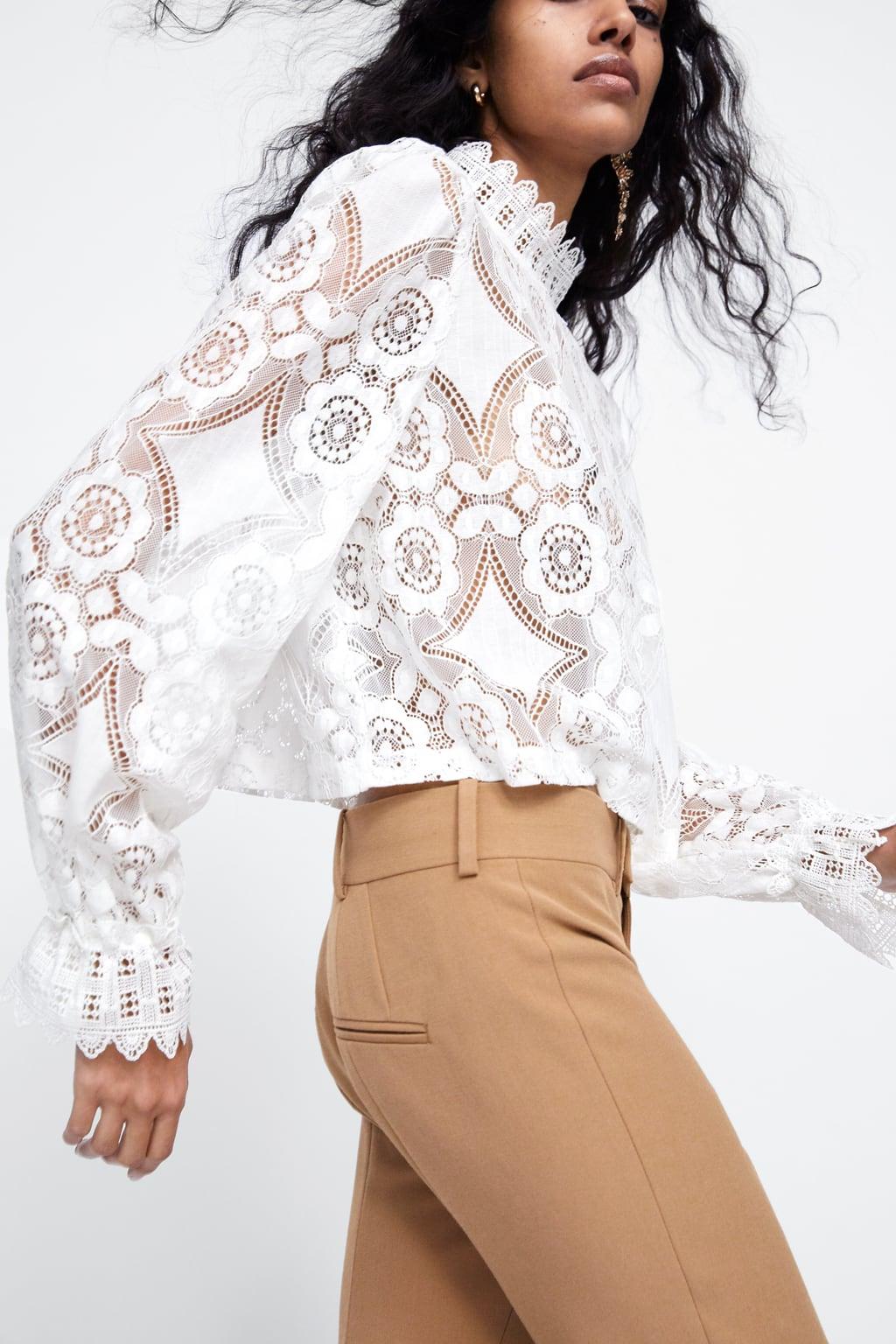 91472904e2 Ta koronkowa bluzka Zara jest już hitem na instagramie - Elle.pl - trendy  wiosna lato 2019  moda