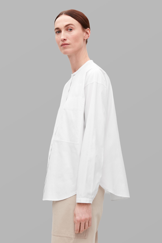Świeże Biała koszula COS - Elle.pl - trendy wiosna lato 2019: moda, modne AT08